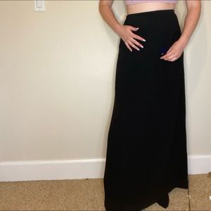 Black maxi banana republic skirt
